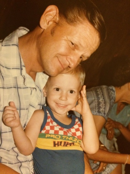 Here's me wearing a totally rad Huffy tank top when I was about one.